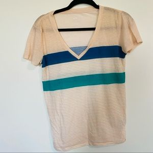 Urban outfitters BDG striped vintage v-neck tee